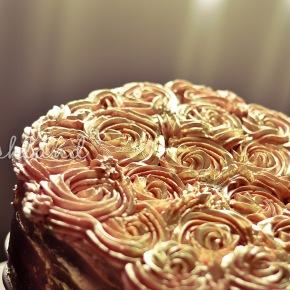 Antique Golden Rose BirthdayCake