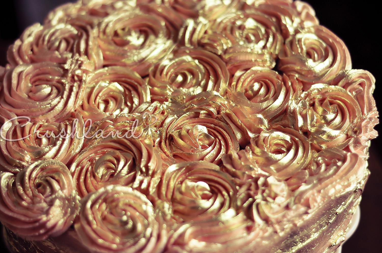 Sensational Antique Golden Rose Birthday Cake Crushland Birthday Cards Printable Trancafe Filternl