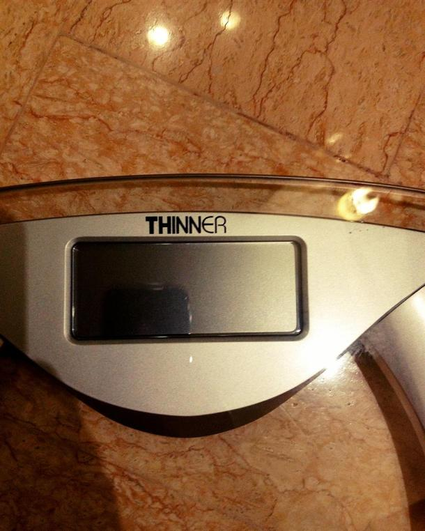 This is what the bathroom scale tells you every time. The voice commands would probably say 'One at a time please', just to make sure your self-esteem is thoroughly destroyed for the rest of your day.