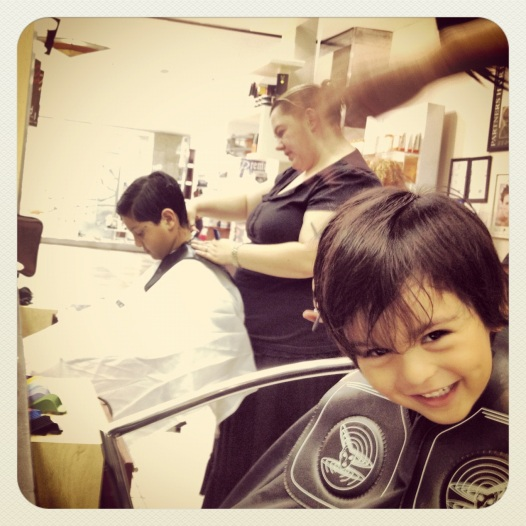 Getting haircutted for the holidays