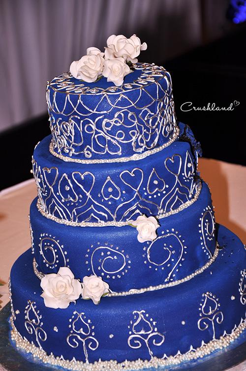The Royal Blue Silver Wedding Cake Crushland